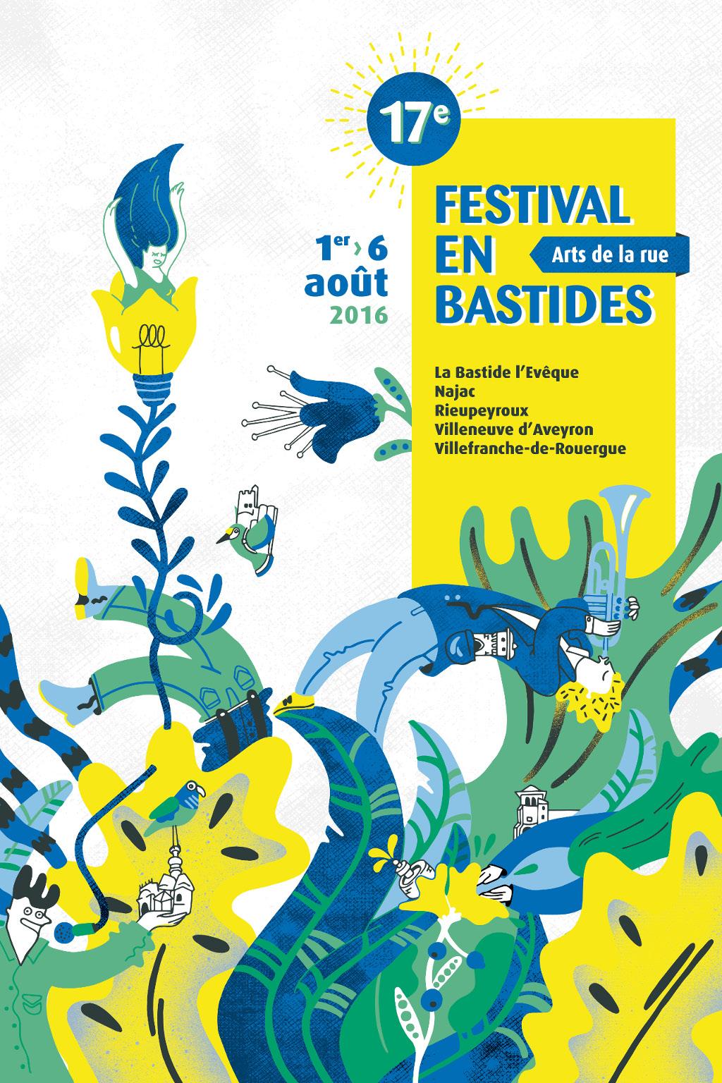Affiche Festival en Bastides 2016